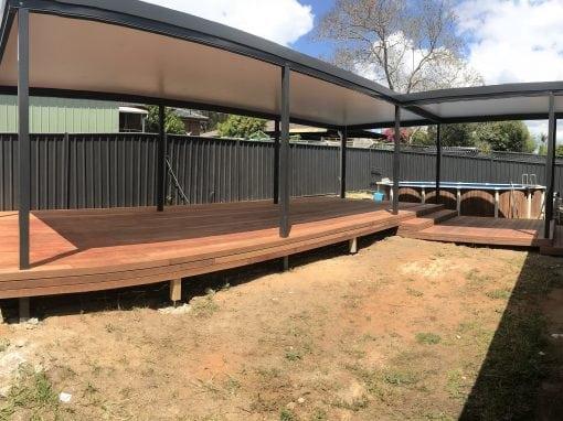 COLORBOND® Pergola with Merbau Deck